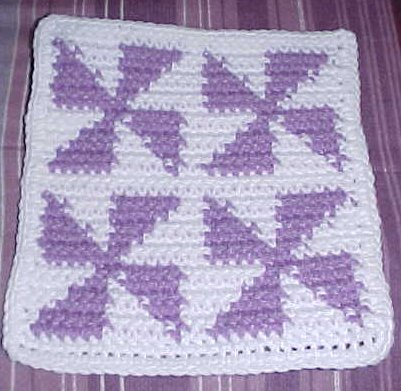 Row Count Windmills Afghan Square Free Crochet Pattern