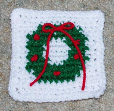 Row Count Wreath Coaster Crochet Pattern