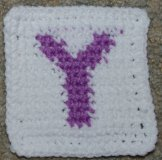 "Row Count ""Y"" Coaster Crochet Pattern"
