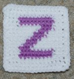 Row Count Z Coaster Crochet Pattern