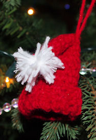 Santa Hat Christmas Ornament Crochet Pattern