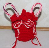 Santa's Candy Bag Crochet Pattern
