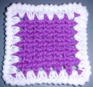 Saw Tooth Coaster Crochet Pattern