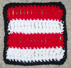 School Spirit Afghan Square Free Crochet Pattern