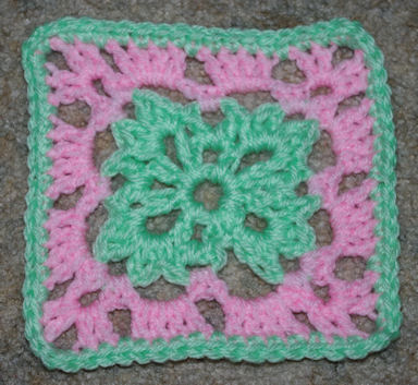 Six Inch Easter Afghan Square Crochet Pattern