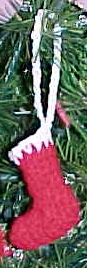 Stocking Christmas Ornament Crochet Pattern