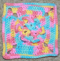 Tiny Petals Afghan Square Free Crochet Pattern