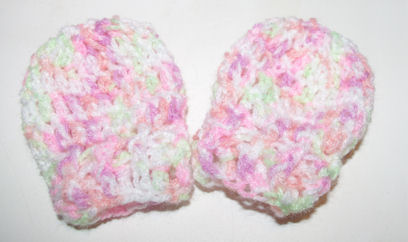 Tiny Tulips Scratch Mitts Free Crochet Pattern